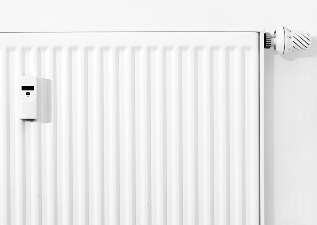 Modern white radiator